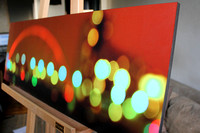 Glasgow Lights. Large fine art block mount. 36 x 12 inches. £175